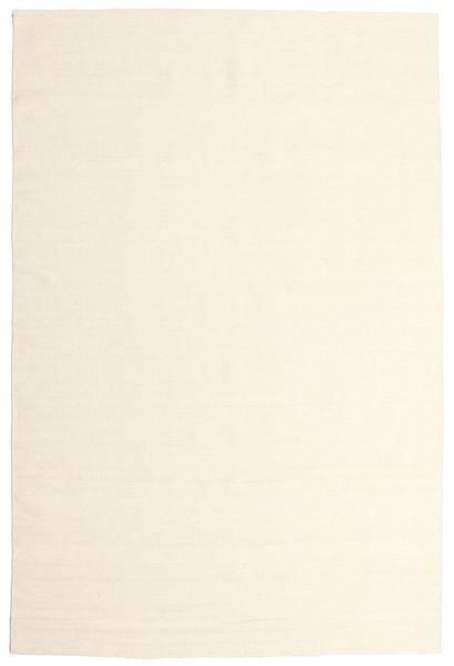 Kelim Loom - Råhvid Tæppe 200X300 Ægte Moderne Håndvævet Beige/Hvid/Creme (Uld, Indien)