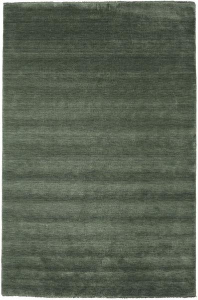 Handloom Fringes - Skovgrøn Tæppe 200X300 Moderne Olivengrøn/Mørkegrøn (Uld, Indien)