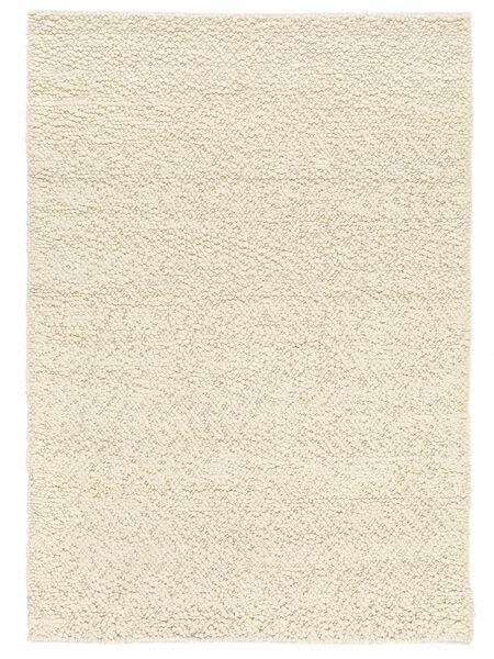 Bubbles - Natural Hvid Tæppe 170X240 Moderne Beige (Uld, Indien)