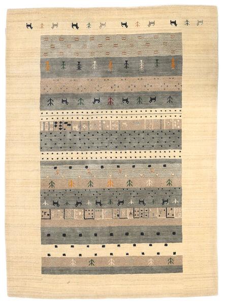 Loribaf Loom Tæppe 174X241 Ægte Moderne Håndknyttet Beige/Lysegrå (Uld, Indien)