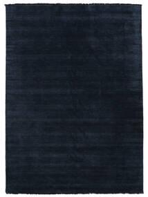 Handloom Fringes - Mørkeblå Tæppe 250X350 Moderne Mørkeblå Stort (Uld, Indien)