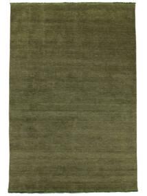Handloom Fringes - Grøn Tæppe 160X230 Moderne Olivengrøn (Uld, Indien)