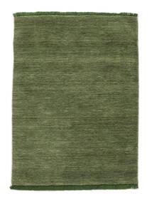 Handloom Fringes - Grøn Tæppe 140X200 Moderne Olivengrøn/Mørkegrøn (Uld, Indien)