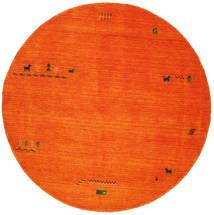 Gabbeh Indisk - Orange Tæppe Ø 200 Moderne Rundt Rød/Rust/Hvid/Creme (Uld, Indien)