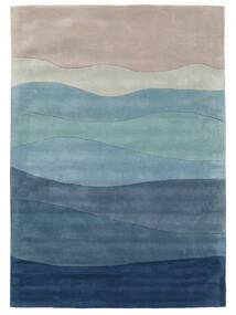 Feeling Handtufted - Blå Tæppe 160X230 Moderne Lyseblå/Lysegrå/Blå (Uld, Indien)