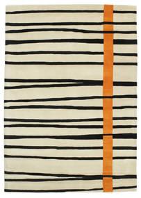 Gummi Twist Handtufted - Orange Tæppe 160X230 Moderne Mørk Beige/Beige/Sort (Uld, Indien)