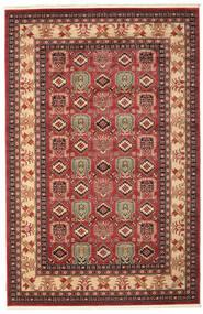 Kazak Simav Tæppe 200X300 Orientalsk Mørkerød/Mørkebrun ( Tyrkiet)