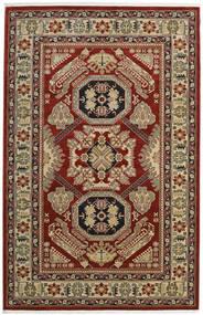 Kazak Mirvan Tæppe 200X300 Orientalsk Mørkerød/Lysebrun ( Tyrkiet)