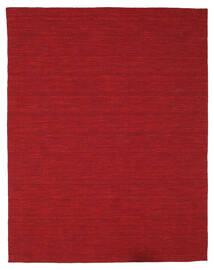 Kelim Loom - Mørkerød Tæppe 200X250 Ægte Moderne Håndvævet Rød (Uld, Indien)