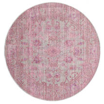 Maharani - Grå/Rosa Tæppe Ø 150 Moderne Rundt Lyserød ( Tyrkiet)
