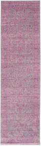 Maharani - Grå/Rosa Tæppe 80X300 Moderne Tæppeløber Lyserød/Rosa/Lyslilla ( Tyrkiet)
