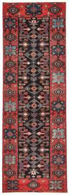 Saveh Patina Tæppe 100X303 Ægte Orientalsk Håndknyttet Tæppeløber Mørkebrun/Mørkerød (Uld, Persien/Iran)
