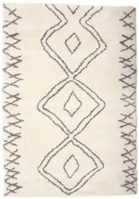 Berber Shaggy Massin Tæppe 160X230 Moderne Beige/Lysegrå ( Tyrkiet)