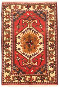 Kazak Tæppe 105X154 Ægte Orientalsk Håndknyttet Orange/Beige (Uld, Pakistan)
