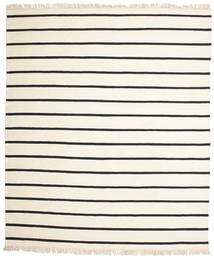 Dorri Stripe - Hvid/Sort Tæppe 250X300 Ægte Moderne Håndvævet Beige/Hvid/Creme Stort (Uld, Indien)