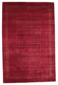 Gabbeh Loribaft Tæppe 151X230 Ægte Moderne Håndknyttet Rød/Mørkerød (Uld, Indien)