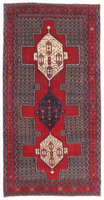 Senneh Patina Tæppe 145X299 Ægte Orientalsk Håndknyttet Mørkebrun/Rød (Uld, Persien/Iran)