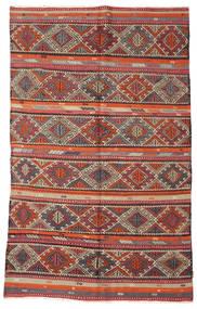 Kelim Semiantik Tyrkiet Tæppe 166X271 Ægte Orientalsk Håndvævet Mørkerød/Brun (Uld, Tyrkiet)