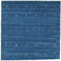 Gabbeh Loom Two Lines - Blå Tæppe 200X200 Moderne Kvadratisk Mørkeblå/Blå (Uld, Indien)