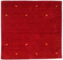 Gabbeh Loom Two Lines - Rød Tæppe 200X200 Moderne Kvadratisk Rød/Mørkerød (Uld, Indien)