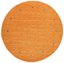 Gabbeh Loom Two Lines - Orange Tæppe Ø 200 Moderne Rundt Orange (Uld, Indien)