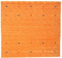 Gabbeh Loom Two Lines - Orange Tæppe 200X200 Moderne Kvadratisk Orange (Uld, Indien)