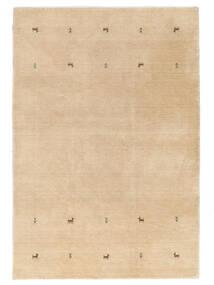 Gabbeh Loom Two Lines - Beige Tæppe 160X230 Moderne Mørk Beige/Lysebrun (Uld, Indien)