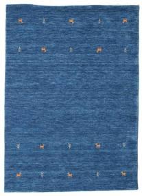 Gabbeh Loom Two Lines - Blå Tæppe 140X200 Moderne Mørkeblå/Blå (Uld, Indien)