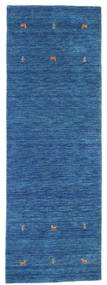 Gabbeh Loom Two Lines - Blå Tæppe 80X250 Moderne Tæppeløber Mørkeblå/Blå (Uld, Indien)
