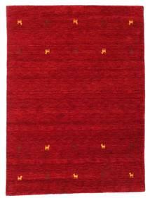 Gabbeh Loom Two Lines - Rød Tæppe 140X200 Moderne Rød/Mørkerød (Uld, Indien)
