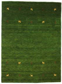 Gabbeh Loom Two Lines - Grøn Tæppe 140X200 Moderne Mørkegrøn (Uld, Indien)