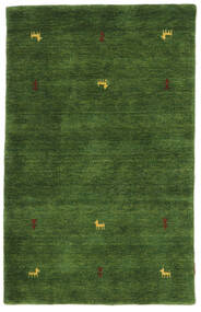 Gabbeh Loom Two Lines - Grøn Tæppe 100X160 Moderne Mørkegrøn (Uld, Indien)