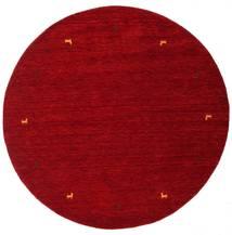 Gabbeh Loom Two Lines - Rød Tæppe Ø 200 Moderne Rundt Mørkerød/Rød (Uld, Indien)