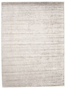 Bambus Silke Loom - Warm Grå Tæppe 250X350 Moderne Lysegrå/Hvid/Creme Stort ( Indien)