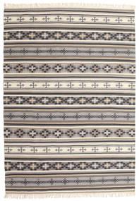 Kelim Cizre Tæppe 160X230 Ægte Moderne Håndvævet Lysegrå/Beige (Uld, Indien)