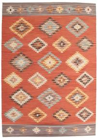Kelim Denizli Tæppe 160X230 Ægte Moderne Håndvævet Orange/Rød (Uld, Indien)