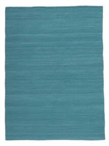Kelim Loom - Petrol Blue Tæppe 160X230 Ægte Moderne Håndvævet Blå/Turkis Blå (Uld, Indien)