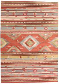 Kelim Mersin Tæppe 160X230 Ægte Moderne Håndvævet Rust/Mørkerød (Uld, Indien)