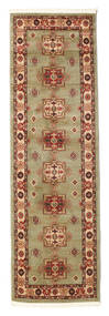 Marivan Kazak Tæppe 80X250 Orientalsk Tæppeløber Lysgrøn/Brun ( Tyrkiet)