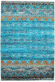 Quito - Turquoise Tæppe 190X290 Ægte Moderne Håndknyttet Turkis Blå/Blå (Silke, Indien)