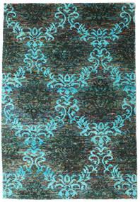 Kamala Tæppe 160X230 Ægte Moderne Håndknyttet Mørkegrå/Mørkegrøn (Silke, Indien)