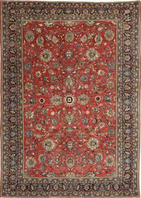 Sarough Patina Tæppe 236X347 Ægte Orientalsk Håndknyttet Mørkerød/Mørkegrå (Uld, Persien/Iran)
