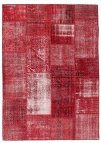Patchwork Tæppe 163X229 Ægte Moderne Håndknyttet Rød/Mørkerød (Uld, Tyrkiet)