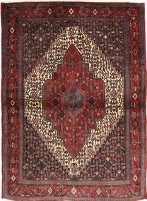 Senneh Tæppe 115X155 Ægte Orientalsk Håndknyttet Mørkerød/Sort (Uld, Persien/Iran)