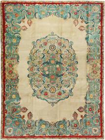 Tabriz Patina Tæppe 300X400 Ægte Orientalsk Håndknyttet Gul/Pastel Grøn Stort (Uld, Persien/Iran)
