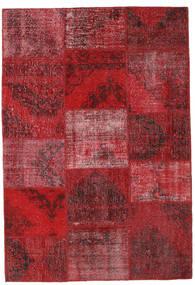 Patchwork Tæppe 158X231 Ægte Moderne Håndknyttet Mørkerød/Rød (Uld, Tyrkiet)