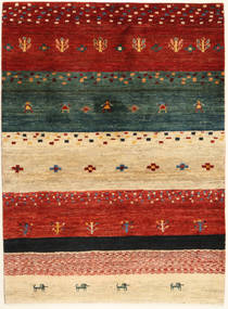 Loribaft Persia Tæppe 102X140 Ægte Moderne Håndknyttet Rød/Mørkegrøn (Uld, Persien/Iran)