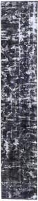 Colored Vintage Tæppe 70X380 Ægte Moderne Håndknyttet Tæppeløber Mørkegrå/Lysegrå (Uld, Persien/Iran)