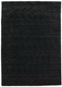 Handloom Gabba - Sort/Grå Tæppe 160X230 Moderne Sort (Uld, Indien)
