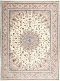 Isfahan Silketrend Tæppe 315X420 Ægte Orientalsk Håndknyttet Lysegrå/Beige Stort (Uld/Silke, Persien/Iran)